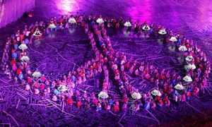 Peace Sign, London 2012, Opening Ceremony, Olympics