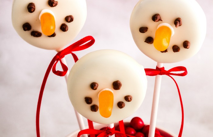 Dairy Free Snowman Cookie Pops