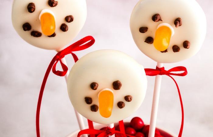 Dairy Free Snowman Cookie Pops